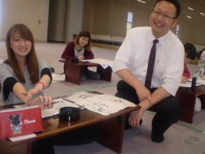 漢字かな交じりの授業  先生と楽しく会話しています