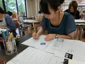 鉛筆で文字をレイアウト(篆刻)