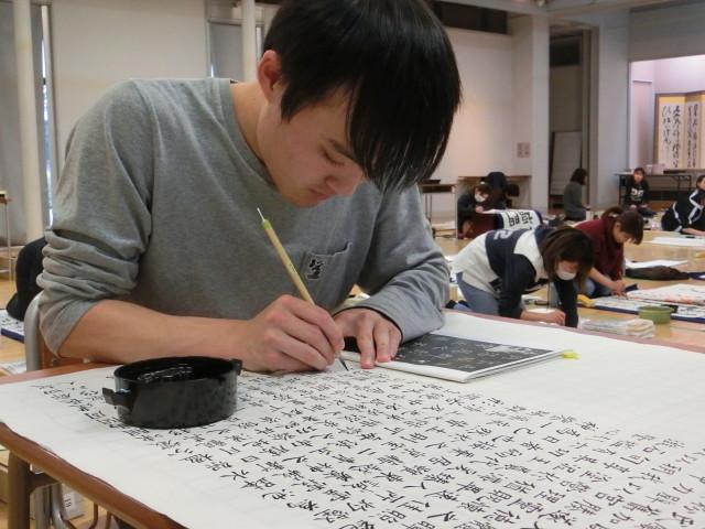 1200文字を全紙に書いています
